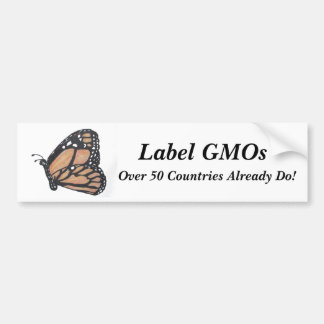 "Monarch Butterfly ""Label GMOs"" Bumper Stickers"
