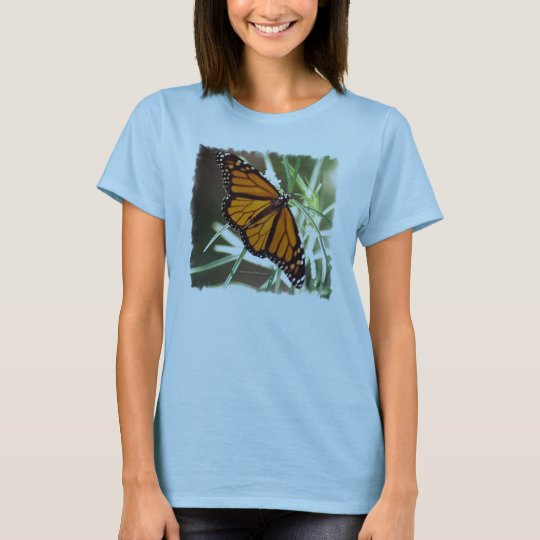 Monarch Butterfly Ladies Baby Doll T T-Shirt