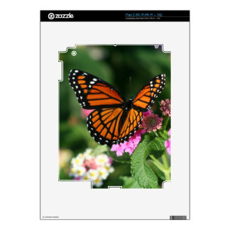 Monarch Butterfly Lantana iPad 2 Skin