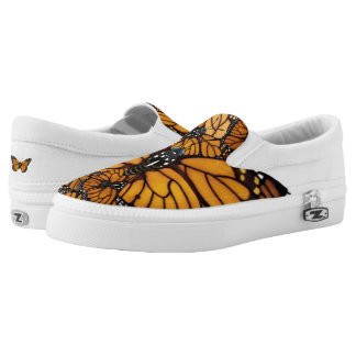 Monarch Butterfly Madness Slip-On Sneakers