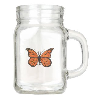 Monarch Butterfly Mason Jar