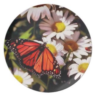 monarch butterfly melamine plate
