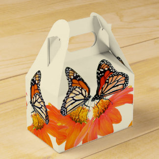 Monarch Butterfly Mexican Sunflower Flowers Floral Favor Box