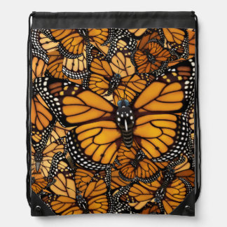 Monarch Butterfly Migration Drawstring Backpack
