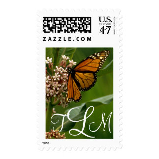 Monarch Butterfly - Monogram Postage