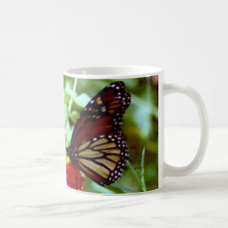 monarch butterfly classic white coffee mug