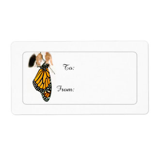 Monarch Butterfly Newborn on Gift Tags Label