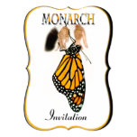 Monarch Butterfly Newborn with Cocoon - Photograph 5x7 Paper Invitation Card