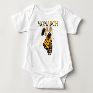 Monarch Butterfly Newborn with Cocoon - Photograph Baby Bodysuit