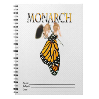 Monarch Butterfly Newborn with Cocoon - Typography Notebook