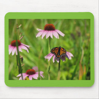 Monarch butterfly on a purple coneflower mouse pad