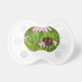 Monarch butterfly on a purple coneflower BooginHead pacifier