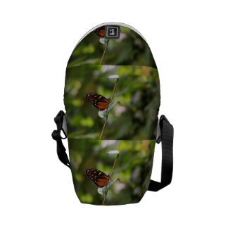 Monarch Butterfly On a Twig Messenger Bag