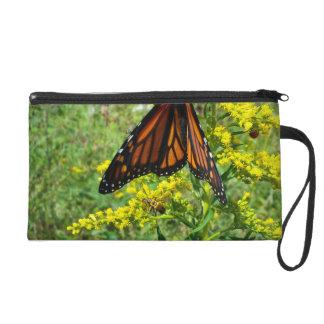 Monarch Butterfly on a Yellow Flower Wristlets