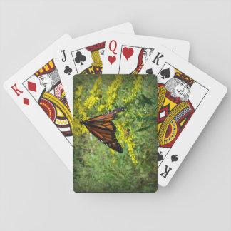 Monarch Butterfly on a Yellow Flower Poker Deck