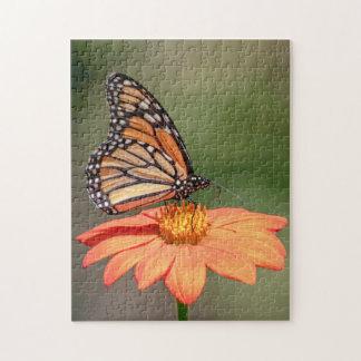 Monarch Butterfly on an orange flower Jigsaw Puzzle