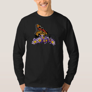Monarch Butterfly on Asters Mens T-Shirt
