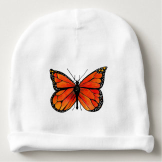 Monarch Butterfly on Baby Beanie Hat