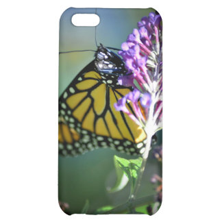 Monarch butterfly on butterfly bush iPhone 5C cases