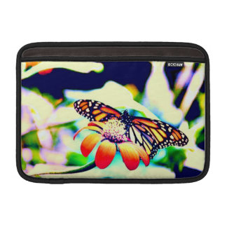 Monarch Butterfly On Flower Sleeve For MacBook Air