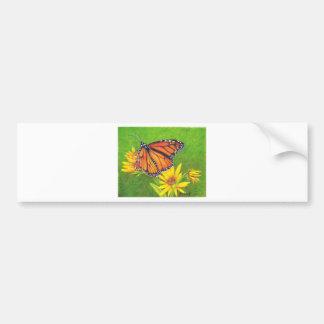 monarch butterfly on flowers bumper sticker