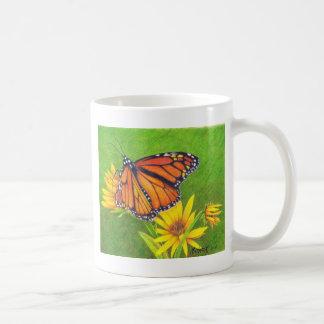 monarch butterfly on flowers coffee mug
