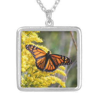 Monarch Butterfly on Goldenrod Necklace