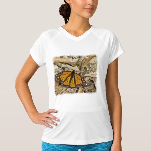 Monarch Butterfly on Ground White Edge T-Shirt