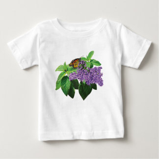 Monarch Butterfly on Heliotrope Kids Tshirts