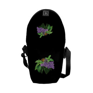 Monarch Butterfly on Heliotrope Messenger Bag