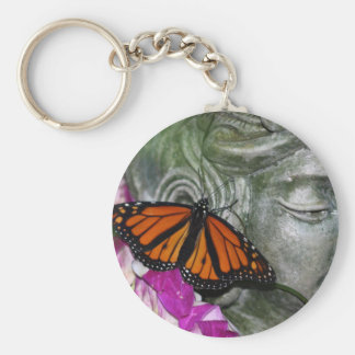 Monarch Butterfly on Kwan Yin Keychain