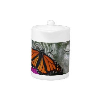Monarch Butterfly on Kwan Yin Teapot