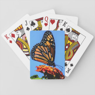 Monarch Butterfly on Lantana Flower Playing Cards