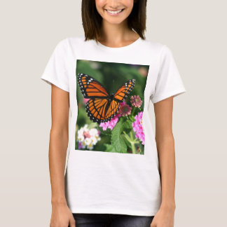 Monarch Butterfly on Lantana Flower T-Shirt