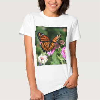 Monarch Butterfly on Lantana Flower T-shirts