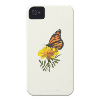 Monarch Butterfly on Marigold iPhone 4 Covers