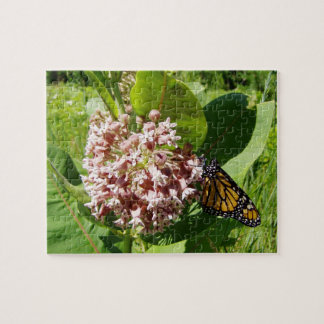 Monarch Butterfly on Milkweed Photo Jigsaw Puzzle