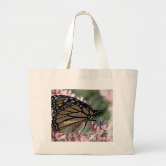 Monarch Butterfly on Pink Tote Bags