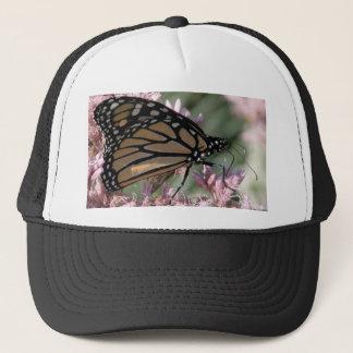 Monarch Butterfly on Pink Trucker Hat