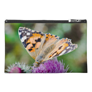 Monarch Butterfly on Purple Aster Flower Travel Accessory Bag