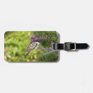 Monarch Butterfly on Purple Butterfly Bush Bag Tag