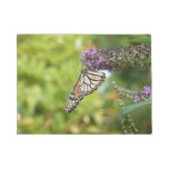Monarch Butterfly on Purple Butterfly Bush Doormat
