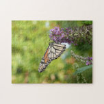 Monarch Butterfly on Purple Butterfly Bush Jigsaw Puzzle