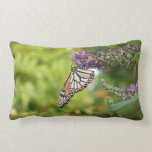 Monarch Butterfly on Purple Butterfly Bush Lumbar Pillow