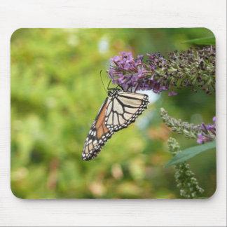 Monarch Butterfly on Purple Butterfly Bush Mouse Pad