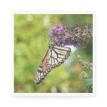 Monarch Butterfly on Purple Butterfly Bush Napkin