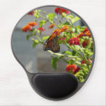 Monarch Butterfly on Red Butterfly Bush Gel Mouse Pad