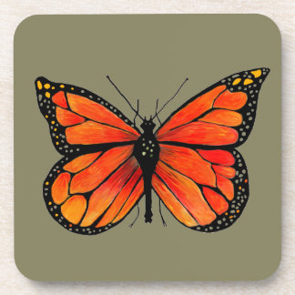 Monarch Butterfly on Set of Drink Coasters
