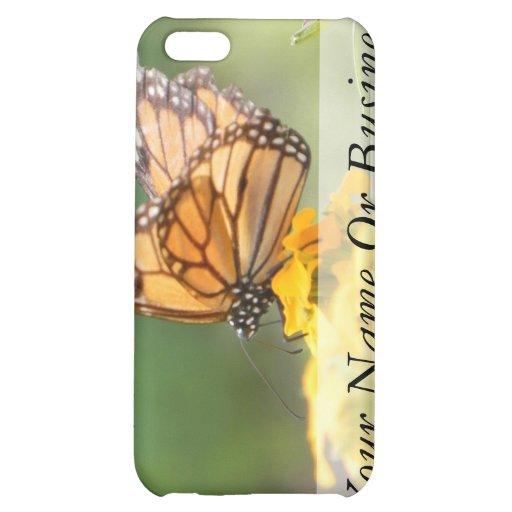 Monarch Butterfly on Siberian Wallflowers iPhone 5C Case