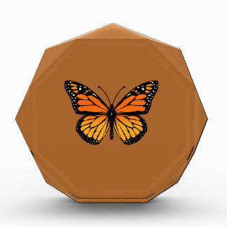 Monarch Butterfly on Sienna Acrylic Award